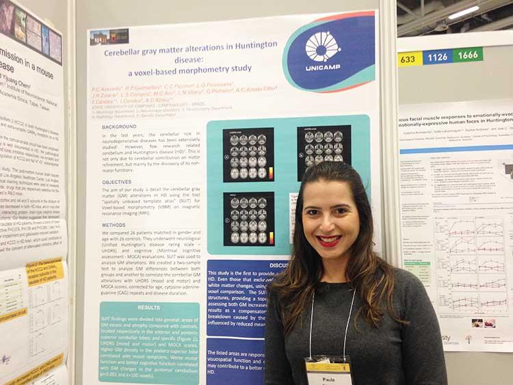 "Dra. Paula Azevedo, neurologista , apresentou poster  ""Cerebellar gray matter alterationsin Huntington disease: a voxel-based morphometry study""  no  20th International Congress of Parkinson's Disease"